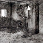 """Interior, """"The cat"""" Blockhaus near Wargnies le Petit. 2.30pm Wed 10 July 2002. Photo"""