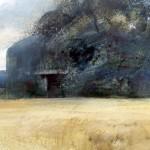 """Blockhaus """"A"""" near Houdain Lez Bavay. 8pm Tue 2 July 2002. A0 Oil"""