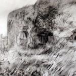 """Blockhaus """"C"""" near La Flamengrie. 11.30am 4 July 2002. A2 Charcoal-ink"""