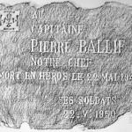 "Memorial Stone, Blockhaus ""C"" near La Flamengrie. 4 July 2002. A2 Wax rubbing"