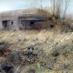 """Blockhaus """"A"""" near La Flamengrie. 4pm Sat 8 Dec 2001. A1 Oil"""
