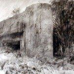 Blockhaus near Jenlain. 6pm Tue 7 May 2002. A2 Charcoal- graphite-ink