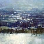 The Seine at Rouen. 5pm Fri 20 Nov 98. 17 x 33 inches. Oil