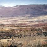 High Plains in the Sierra Nevada, Southern Spain. 5 Feb 1999. 48 x 96 inches. Oil