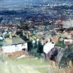 View of Tividale. 1998.38 x52 inches. Oil