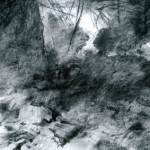 Interior of shattered Infantry Shelter Abri DV2, Verdun. 2.45pm Fri 9 March 2001. A2 Charcoal- ink