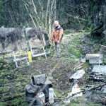 """At work near infantry shelter """"Abri DV1"""". Forests of Verdun. Fri 16 March 2001. Photo"""