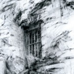 Exterior. Fort Douaumont, Verdun. 6.30pm Wed 21 Feb 2001. A3. Charcoal-ink