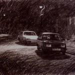3.15am, 21 September 1987. Ryuder Street, Wordsley. Size A2. Conte crayon.