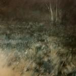 8.25pm Sun 23 Jan 06 Lamp-light in Glen Nevis.. Size A0. Oil