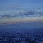 4.35pm  9 January 2010. The Black Country under Snow. Dusk. Size 12x24 inches