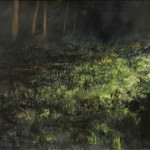 Somme Battlefields. 2am. 10 May 2006. Mametz Wood.48x72 inches, Oil