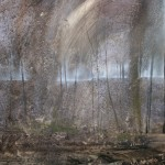 The Somme Battlefields 1914-18, Trenches in Aveluy Wood 4.40pm 7 Feb 2000 Oil  1.2m x 2.4m