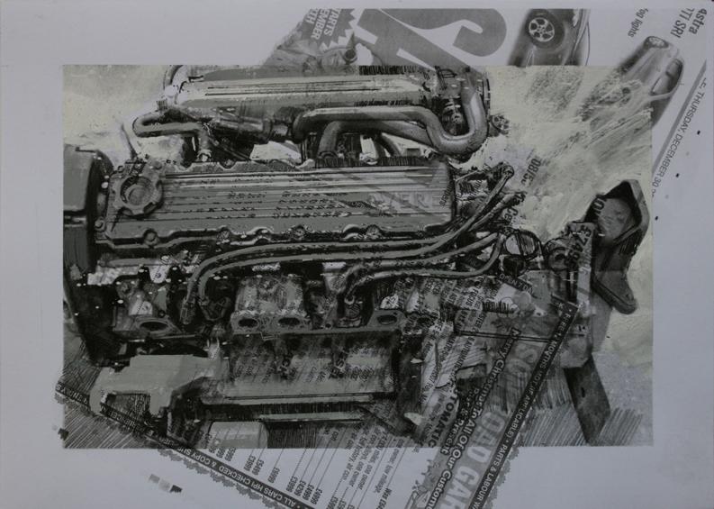 3.20pm, 15 January 2011. 'ENGINE - 03' Size A4 Gouache & Digital Print