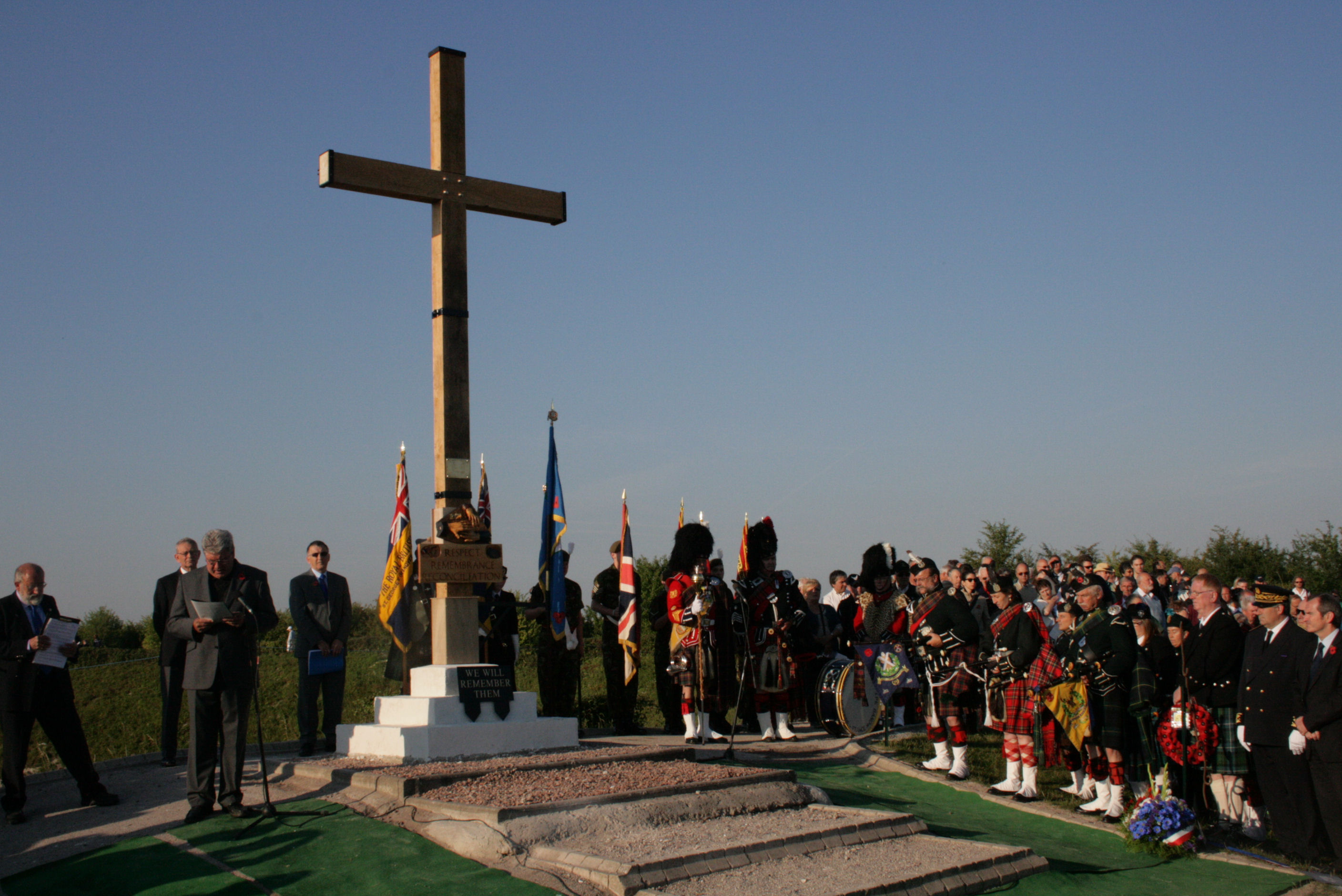 1st July 2011 7.30am The Remembrance Service begins.