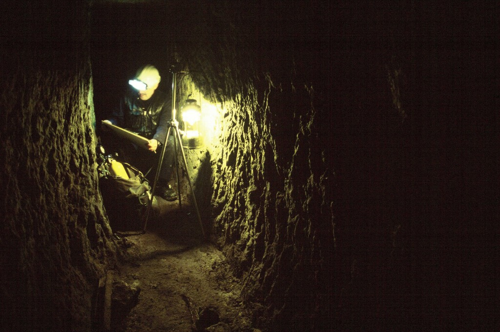 Vauquois 1914-18,   At work in German Tunnels at Vauquois.