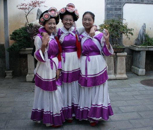 Naxi Dancing Girls. . Lijiang  18 October 2012