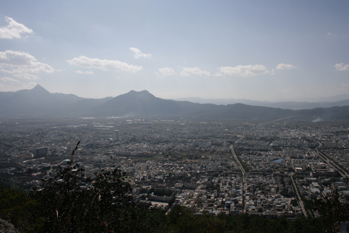 22 October. View of Lijiang from Elephant Mountain.
