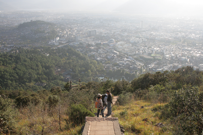 22 October 2012.  Descent from Elephant Mountain.