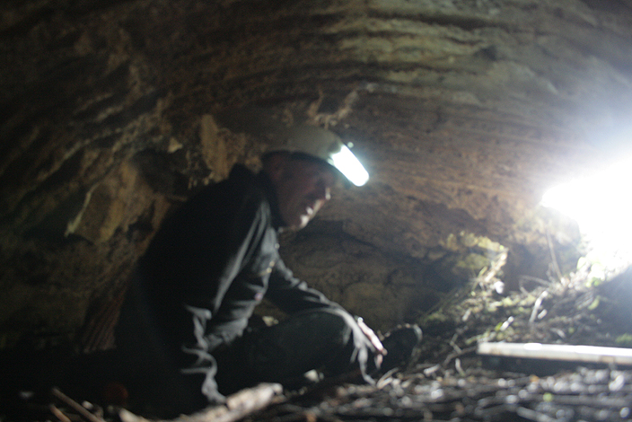 Inside the bunker at Messines