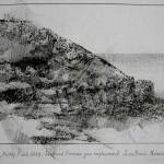 7.05pm, 5 July 2013. Shattered German gun emplacement.   Juno Beach.