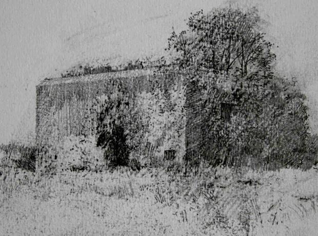 2.50pm, 5 July 2013. German Bunker at Ver-sur-Mer, Normandy.