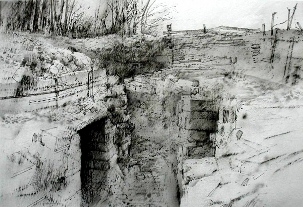 VQ.03.A3-17 (VQ,3) German trenches and entrance to tunnel system. Vauquois. 5.30pm, 27 Feb 2003