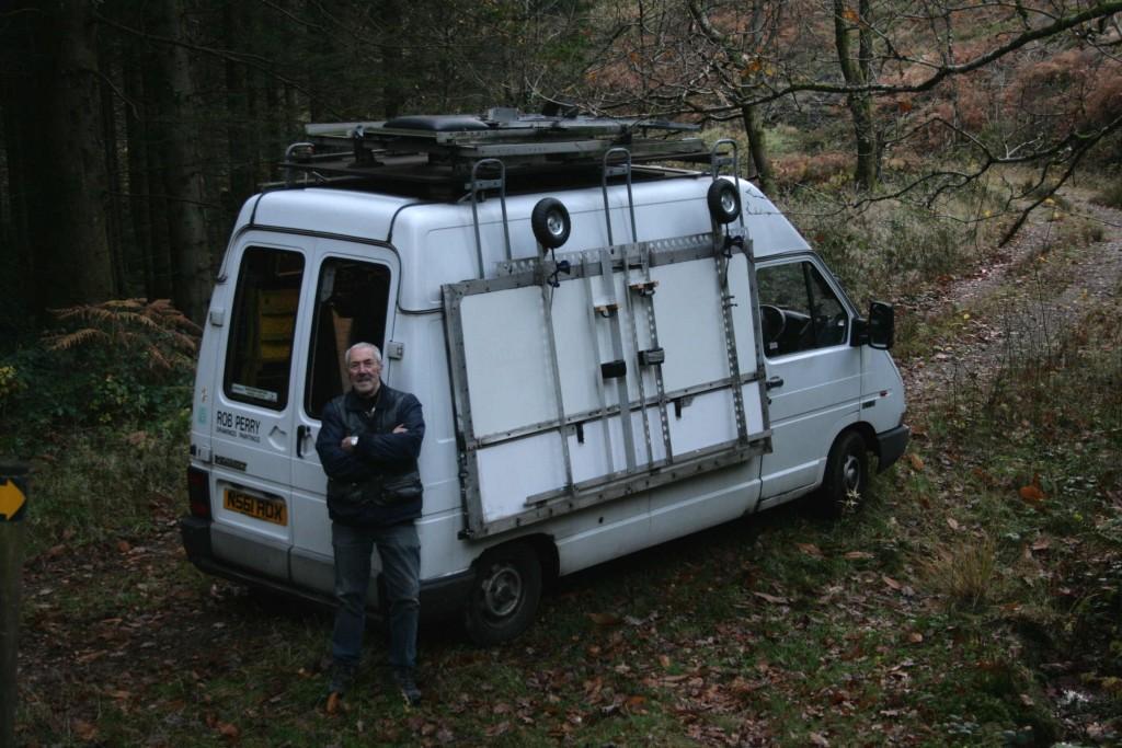 24 Nov 2014.(LR) The van near the knoll