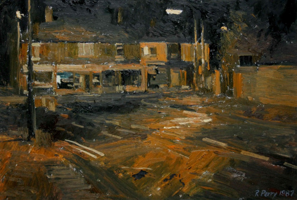 2.45am 21 May 1987.  Brierley Hill Road, Wordsley. Size A3  Oil