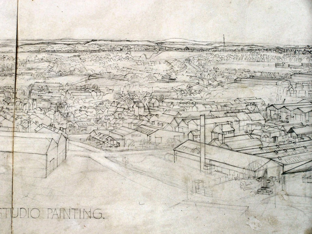 BC OLD,12,Oldnall Work,Topographical Master Study. (detail 7) 1981